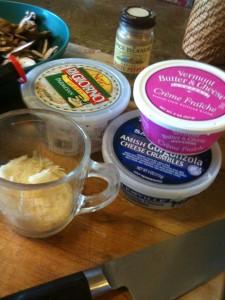 Parmesan Cheese Creme Fraiche Gorgonzola