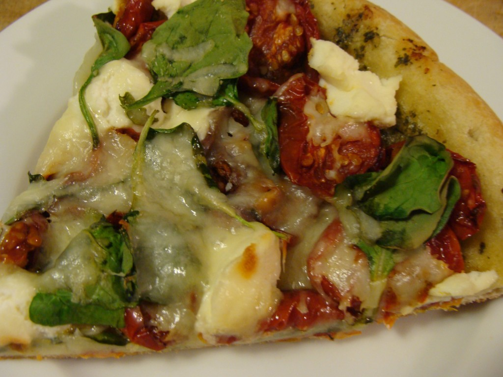 Roasted Tomato Pizza Ricotta Spinach